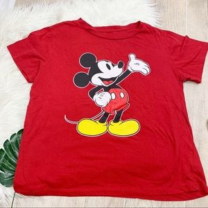 Disney Mickey Mouse Red Short Sleeve Tshirt D1348